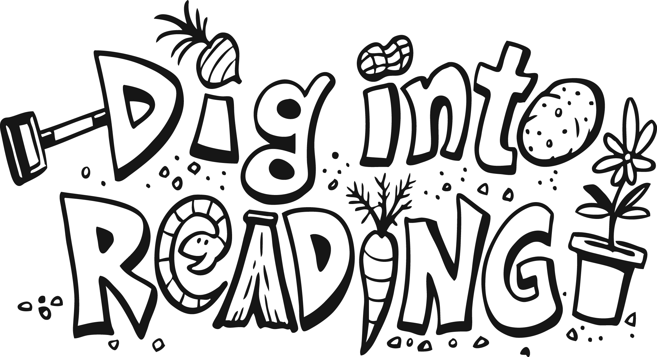 Dig into reading coloring pages ~ Underwood Public Library | Underwood, North Dakota | Page 4