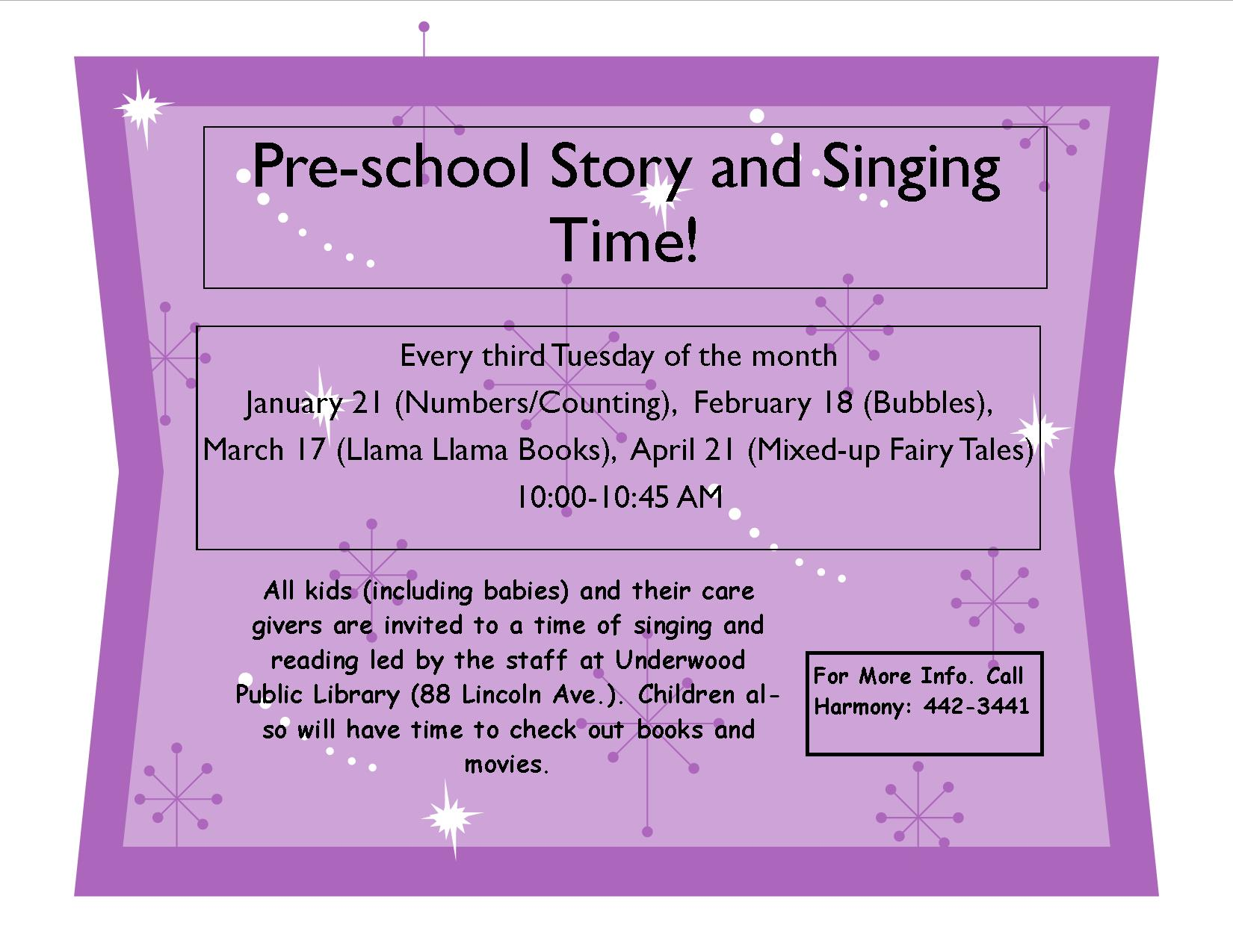 Story singing time